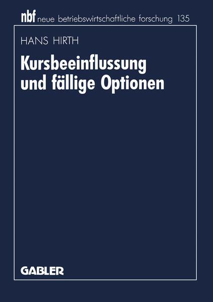 Kursbeeinflussung und fällige Optionen - Coverbild