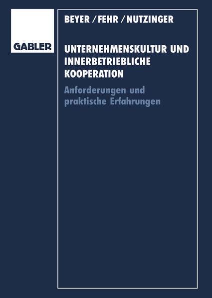 Unternehmenskultur und innerbetriebliche Kooperation - Coverbild