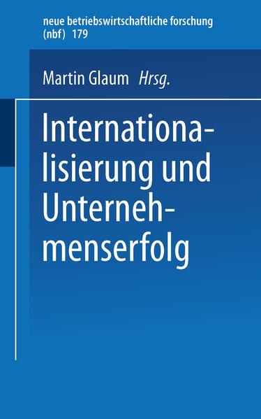 Internationalisierung und Unternehmenserfolg - Coverbild
