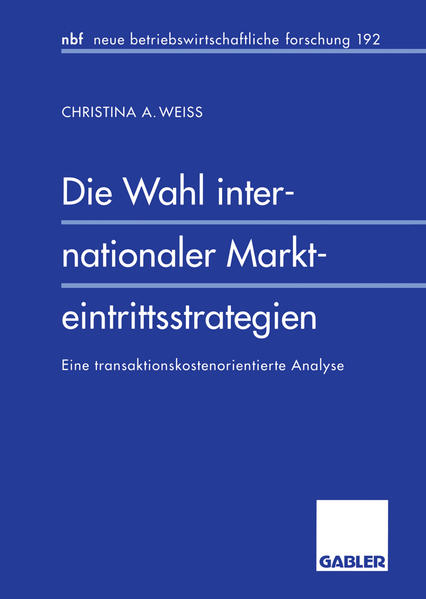Die Wahl internationaler Markteintrittsstrategien - Coverbild