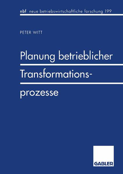 Planung betrieblicher Transformationsprozesse - Coverbild