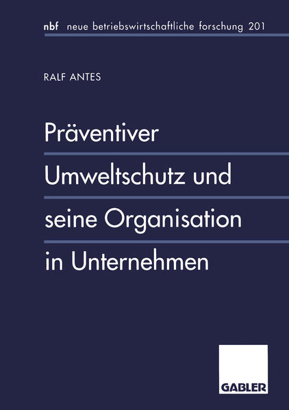 Präventiver Umweltschutz und seine Organisation in Unternehmen - Coverbild