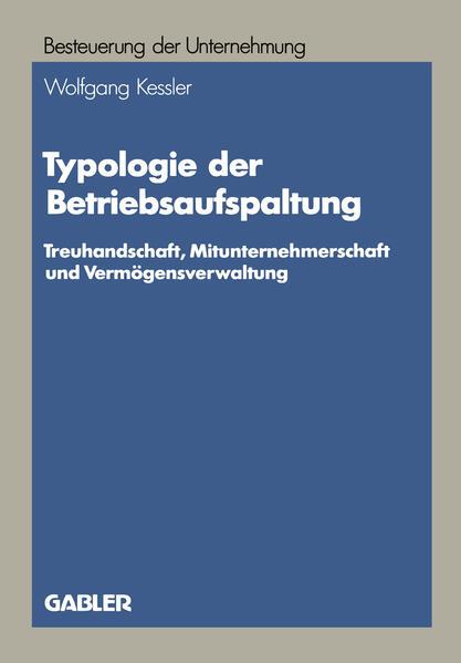 Typologie der Betriebsaufspaltung - Coverbild