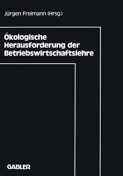 Ökologische Herausforderung der Betriebswirtschaftslehre - Coverbild