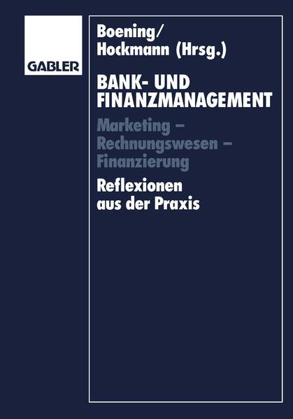 Bank- und Finanzmanagement - Coverbild