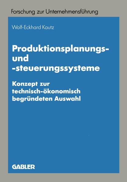 Produktionsplanungs- und -steuerungssysteme - Coverbild