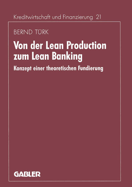 Von der Lean Production zum Lean Banking - Coverbild