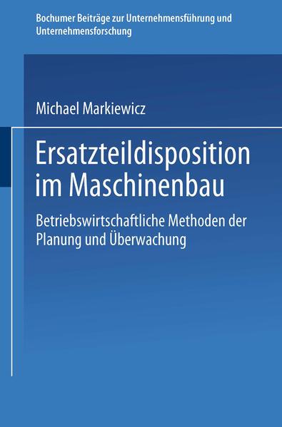 Ersatzteildisposition im Maschinenbau - Coverbild