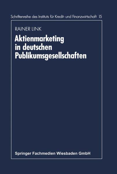 Aktienmarketing in deutschen Publikumsgesellschaften - Coverbild