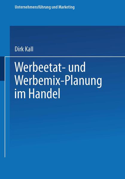 Werbeetat- und Werbemix-Planung im Handel - Coverbild