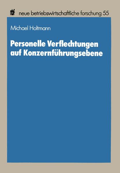 Personelle Verflechtungen auf Konzernführungsebene - Coverbild