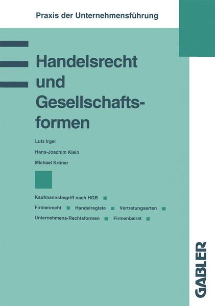Handelsrecht und Gesellschaftsformen - Coverbild