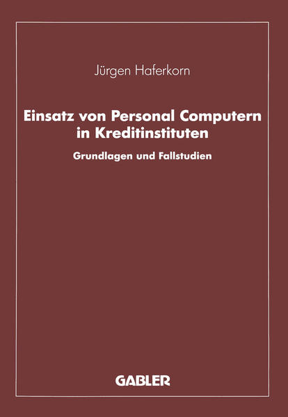 Einsatz von Personal Computern in Kreditinstituten - Coverbild