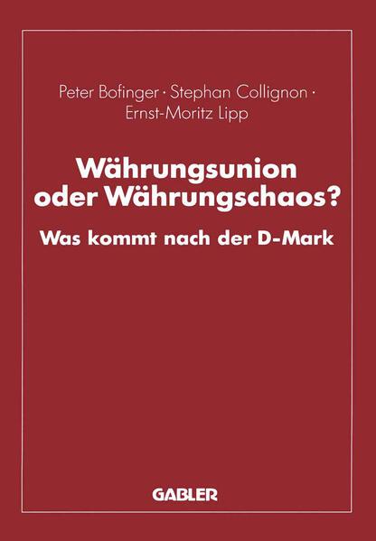 Währungsunion oder Währungschaos? - Coverbild