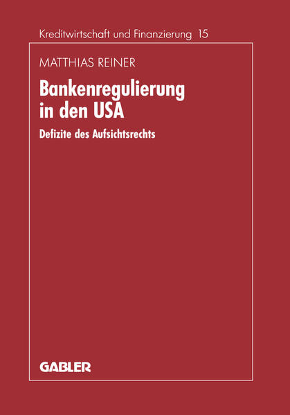 Bankenregulierung in den USA - Coverbild