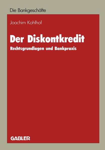 Der Diskontkredit - Coverbild
