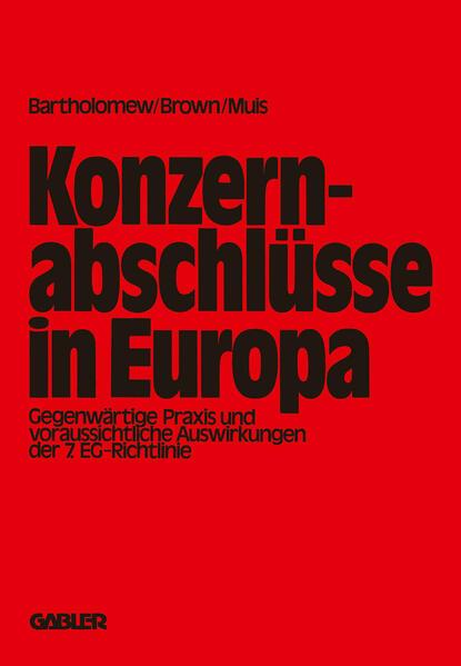 Konzernabschlüsse in Europa - Coverbild