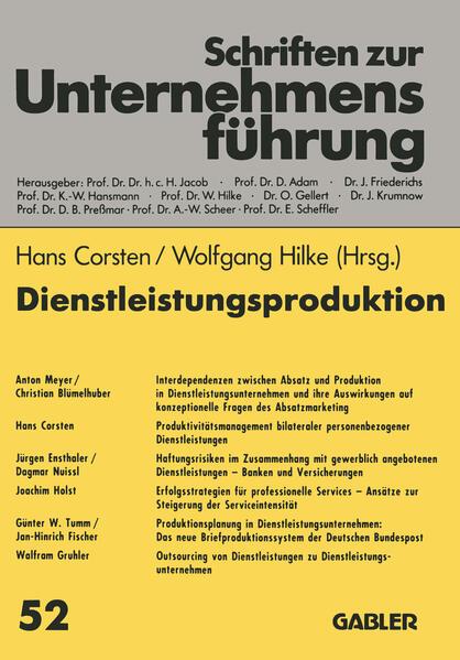 Dienstleistungsproduktion - Coverbild
