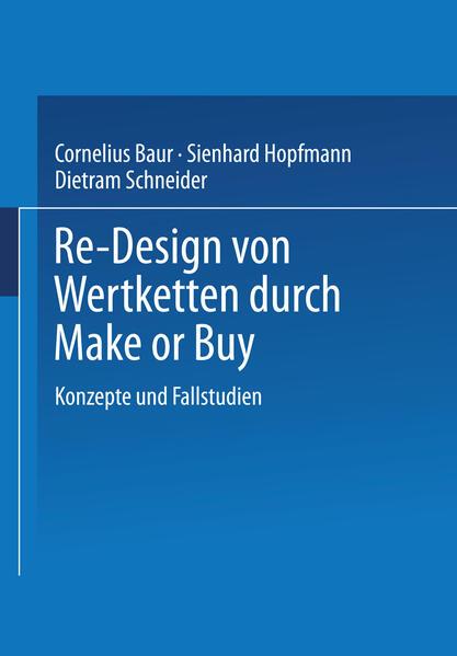 Re-Design von Wertkette durch Make or Buy - Coverbild