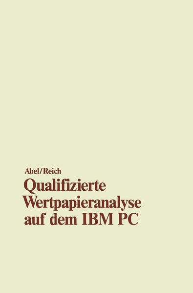 Qualifizierte Wertpapieranalyse auf dem IBM PC - Coverbild