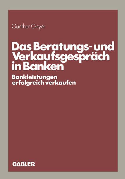Das Beratungs- und Verkaufsgespräch in Banken - Coverbild