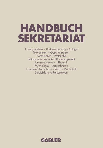 Handbuch Sekretariat - Coverbild