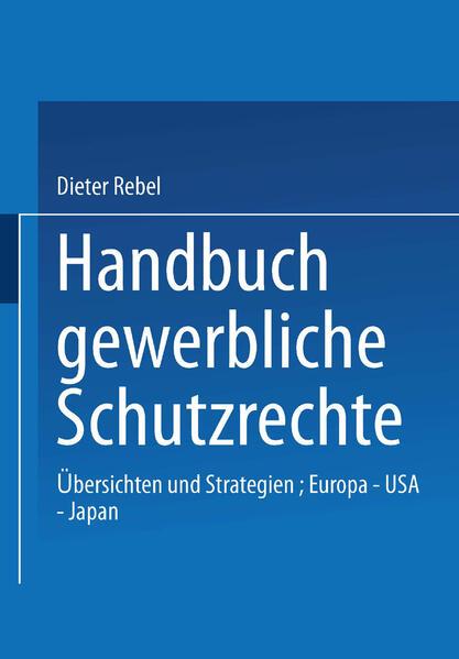 Handbuch Gewerbliche Schutzrechte - Coverbild