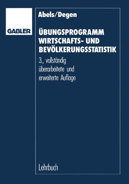 Übungsprogramm Wirtschafts- und Bevölkerungsstatistik - Coverbild