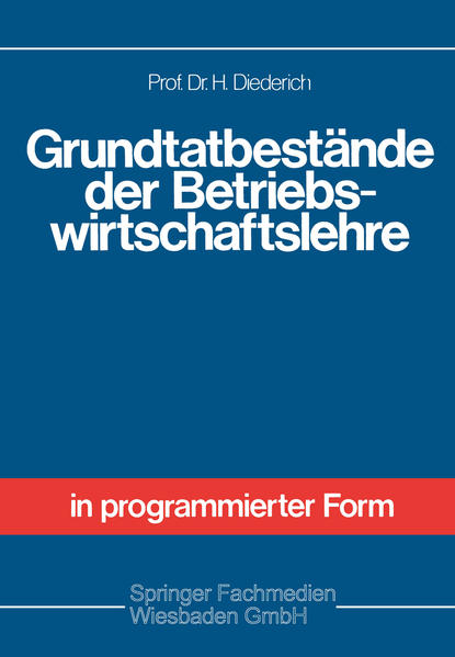 Grundtatbestände der Betriebswirtschaftslehre - Coverbild