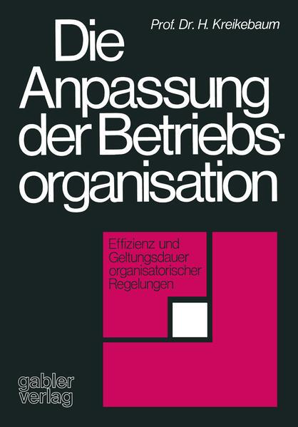 Die Anpassung der Betriebsorganisation - Coverbild