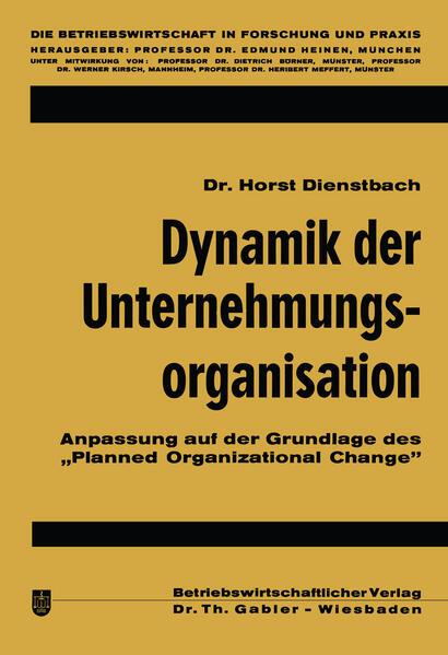 Dynamik der Unternehmungsorganisation - Coverbild