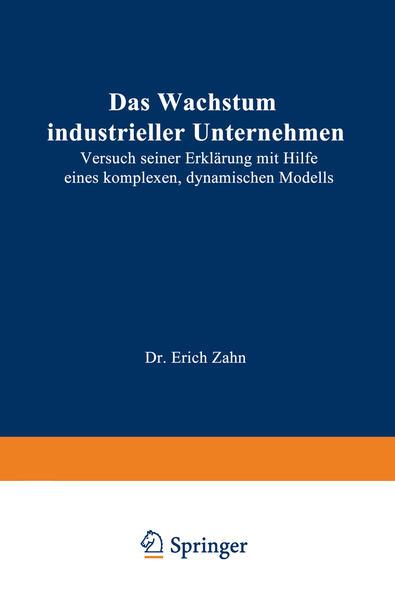 Das Wachstum industrieller Unternehmen - Coverbild