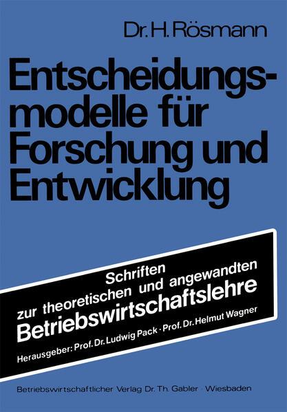 Entscheidungsmodelle für Forschung und Entwicklung - Coverbild