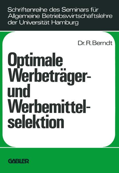 Optimale Werbeträger- und Werbemittelselektion - Coverbild