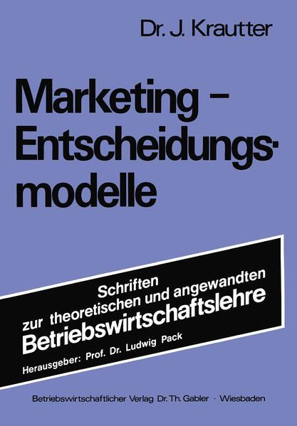 Marketing-Entscheidungsmodelle - Coverbild
