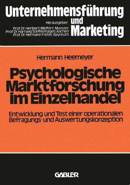 Psychologische Marktforschung im Einzelhandel - Coverbild