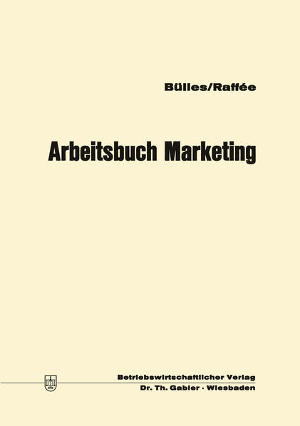 Arbeitsbuch Marketing - Coverbild