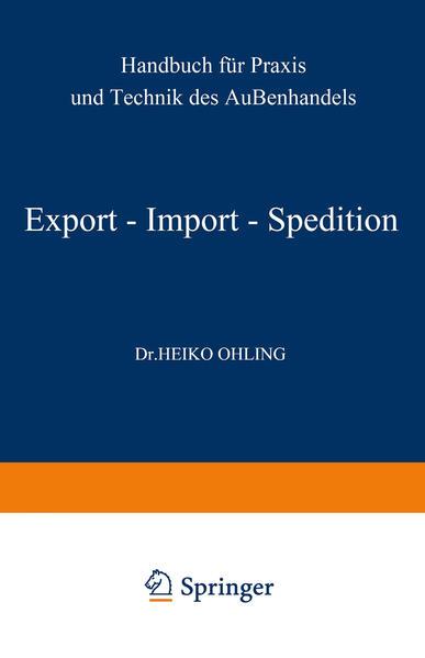 Export — Import — Spedition - Coverbild