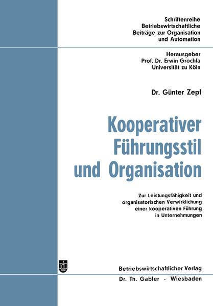 Kooperativer Führungsstil und Organisation - Coverbild