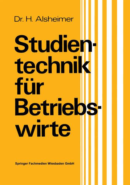 Studientechnik für Betriebswirte - Coverbild