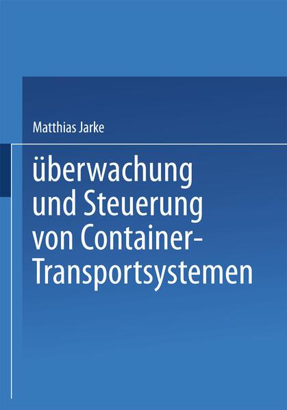 Überwachung und Steuerung von Container-Transportsystemen - Coverbild
