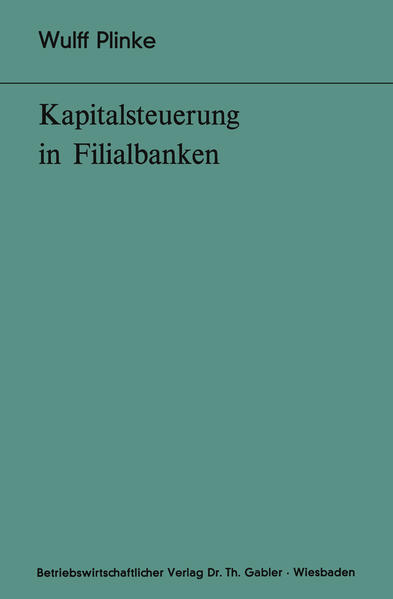 Kapitalsteuerung in Filialbanken - Coverbild