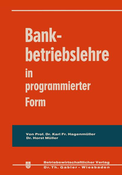 Bankbetriebslehre in programmierter Form - Coverbild