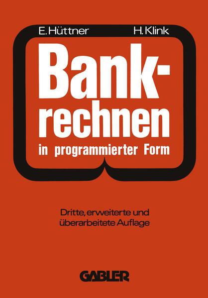 Bankrechnen in programmierter Form - Coverbild