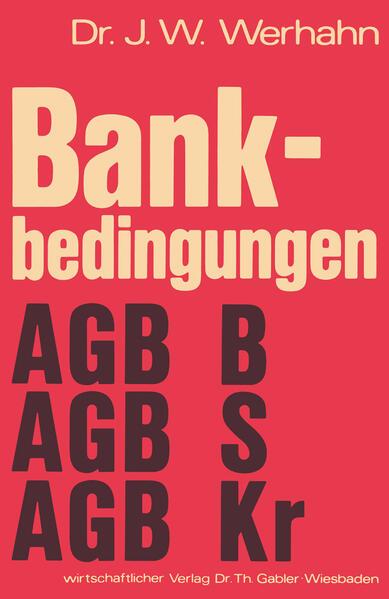 Bankbedingungen - Coverbild
