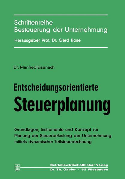Entscheidungsorientierte Steuerplanung - Coverbild