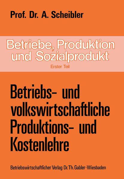 Betriebe, Produktion und Sozialprodukt - Coverbild