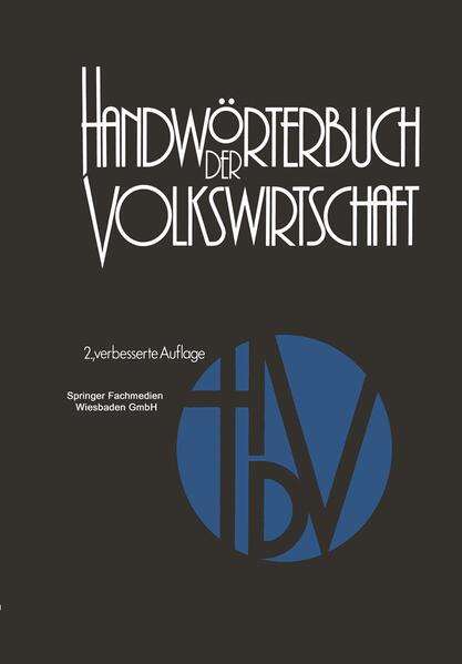 Handwörterbuch der Volkswirtschaft - Coverbild