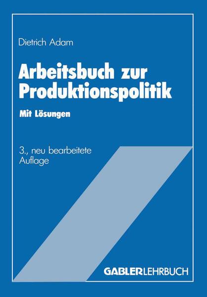 Arbeitsbuch zur Produktionspolitik - Coverbild