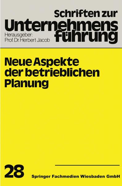 Neue Aspekte der betrieblichen Planung - Coverbild